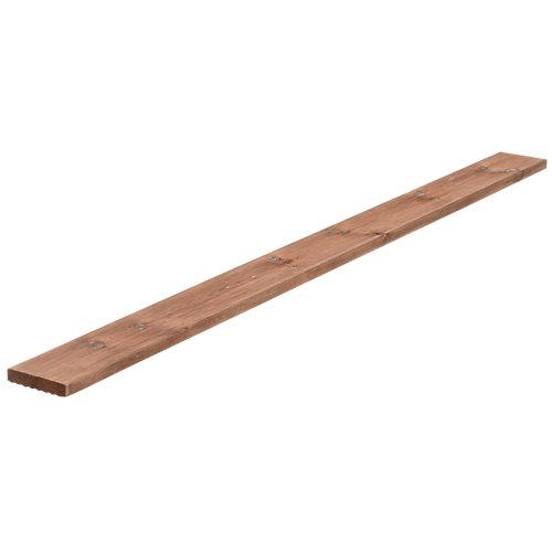 Lama de suelo de madera de exterior tintado de 210x14.5 cm y 28 mm