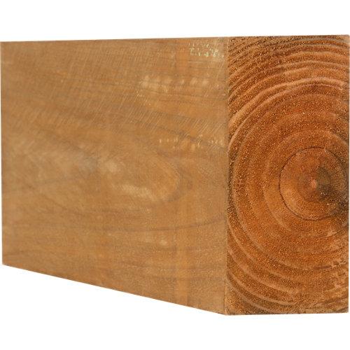 Traviesa de madera tintada para exterior 10x20x200 cm