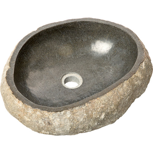 Lavabo rock negro 45x15x40 cm