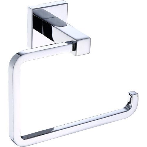 Portarollo wc quaddro gris / plata brillante 13,9x10,6x6,6 cm