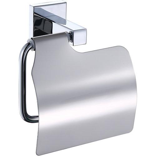 Portarollo wc quaddro gris / plata brillante 13,1x13x6,6 cm