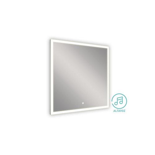 Espejo de baño con luz led lyra 80 x 80 cm