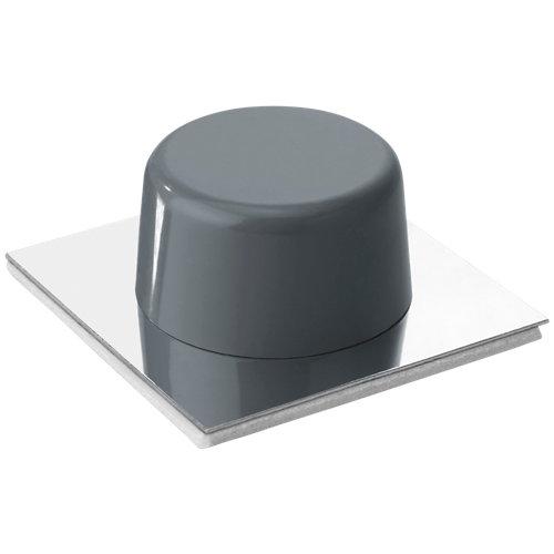 2 tope de puerta para fijar en el suelo gris 4.5x4.5x cm