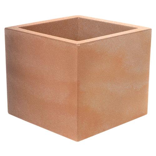 Maceta de polietileno narciso terracota 35x32 cm