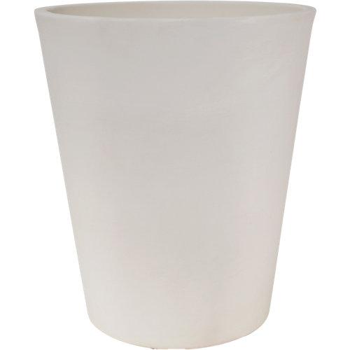 Maceta redonda gerbera ø50 cm blanco