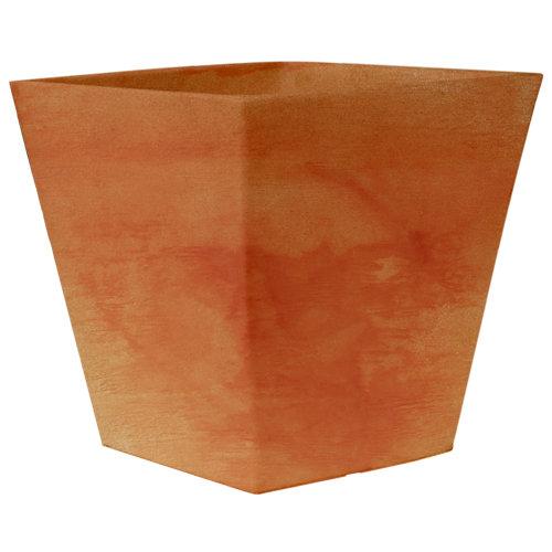 Maceta de polietileno camomila terracota 40x37 cm