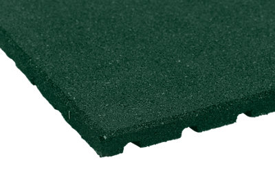 Baldosa caucho 50x50cm 25 mm verde · LEROY MERLIN
