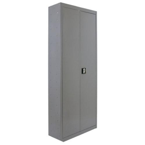 Armario multi desmontado 3 puertas 4 estantes 60 gris