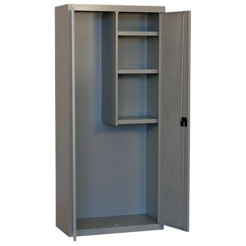 Armario montado cabinet 2 puerta 3 estantes 80 gris