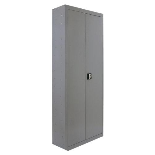 Armario montado multiusos 2 puertas 4 estantes 60 gris