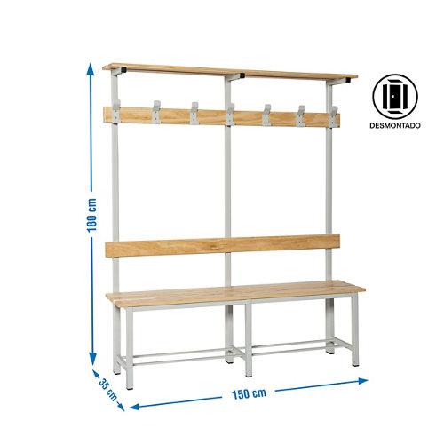 Simonlocker dism. single bench cr 7/1500 de 150x180x35 cm