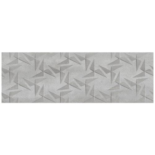 Revestimiento sinergy 30x90 rectificado con relieve gris