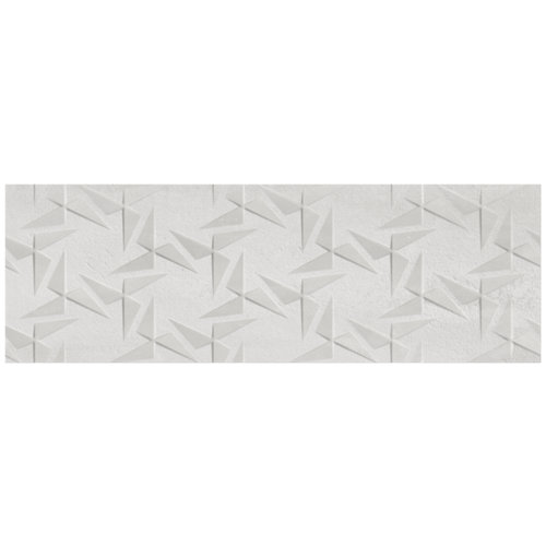 Azulejo cerámico sinergy 30x90 relieve white