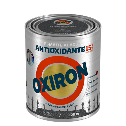 Pintura oxiron forja agua 0,75l gris acero