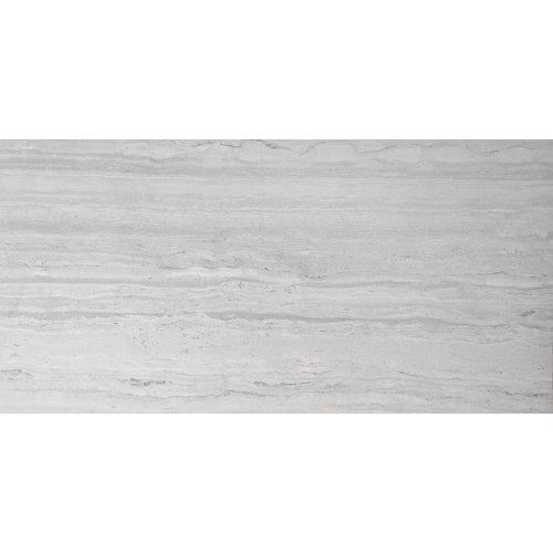 Baldosa cerámica de 98.2x98.2 cm en color gris / plata