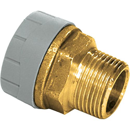 Entronque latón polibutileno hø22mm - 1/2 rosca macho