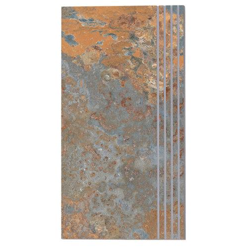 Peldaño de pasta blanca arizona mix 63.7x31.6 cm