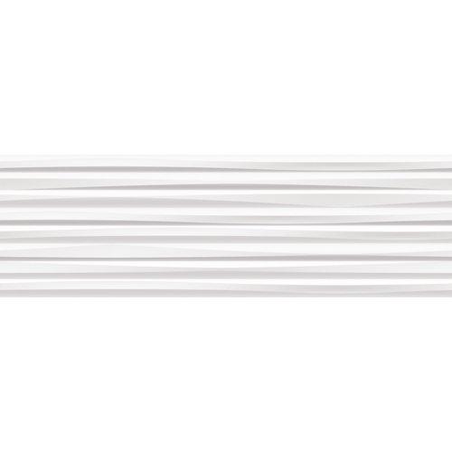 Azulejo cerámico white&co 1000x315 line blanco, apto para baños y cocinas
