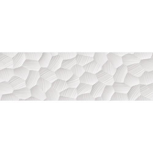 Azulejo cerámico white&co 100x31,5 circle blanco, apto para baños y cocinas