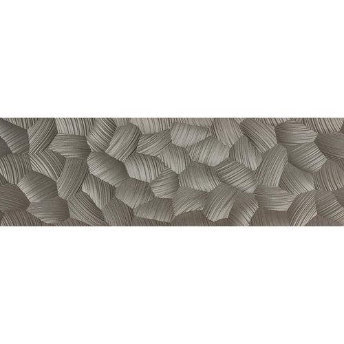 Azulejo cerámico white&co 100x31,5 circle plata, apto para cocinas y baños