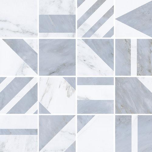 Mosaico velvet 30x30 geo gris c1