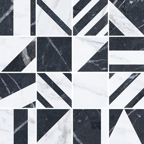 Mosaico velvet 30x30 geo negro c1