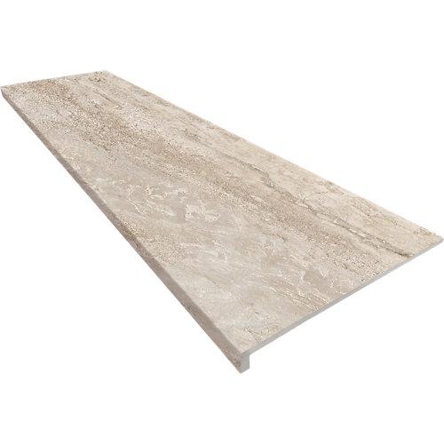 Peldaño recto extrusionado marrón de 120 x 33 cm