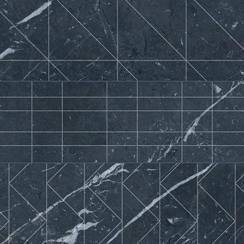 Pavimento porcelánico velvet 33.15x33.15 brick-geo-negro c1