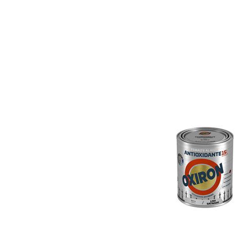 Pintura oxiron liso agua satinado 0,75l blanco