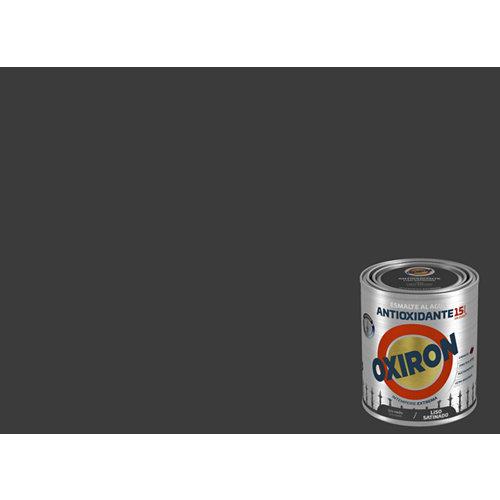 Pintura oxiron liso agua satinado 0,75l gris medio