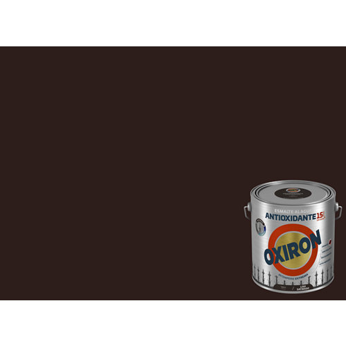 Pintura oxiron liso agua satinado 2,5l tabaco