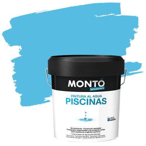 Pintura piscina agua excl monto 12l azul polinesia