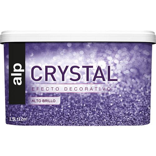 Pintura efecto crystal 1.5l gris agua