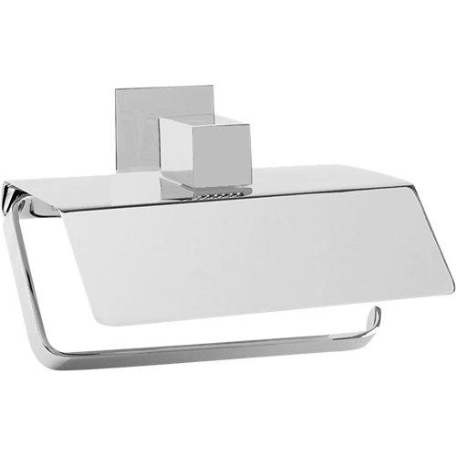 Portarollo wc skip gris / plata brillante 40x14x21 cm