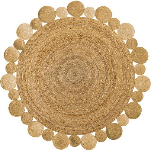 Alfombra beige yute corona 90 x 90cm