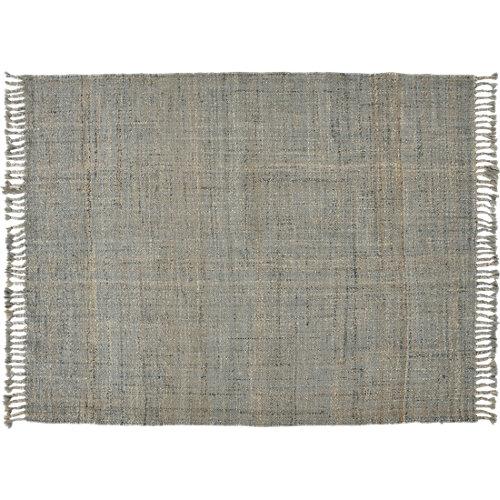 Alfombra gris yute yute tartán 200 x 200cm