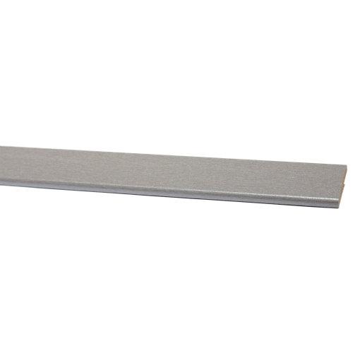 Bizcocho de mdf melamina gris 32x5 mm x 2,43 m (ancho x grueso x largo)