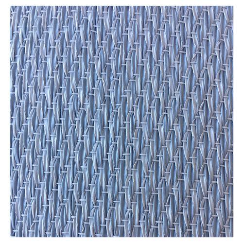 Alfombra azul poliéster y pvc fresh 45 x 60cm