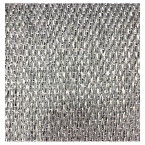 Alfombra gris poliéster y pvc fresh 45 x 60cm