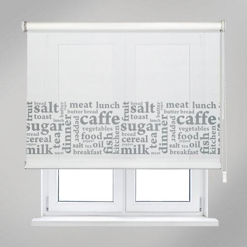 Estor enrollable letters blanco de 90x190cm