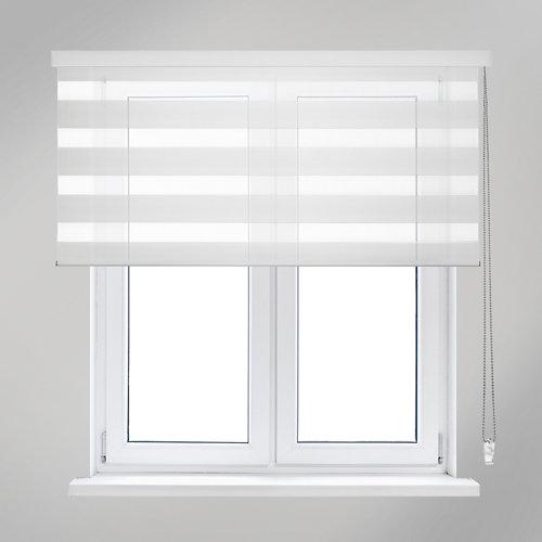 Estor enrollable noche/día pnoche&dia pinnete blanco de 105x250cm