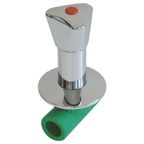 Válvula corte ppr mando cromo hembra ø25mm
