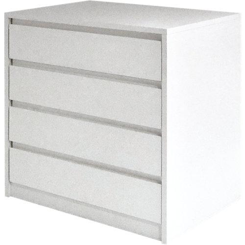 Cajonera 4 cajones serie montada blanco con uñero 72x70x50cm (altoxanchoxfondo)
