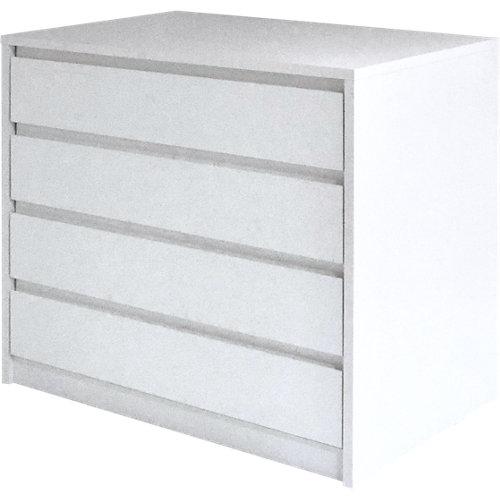 Cajonera 4 cajones serie montada blanco con uñero 72x80x50cm (altoxanchoxfondo)