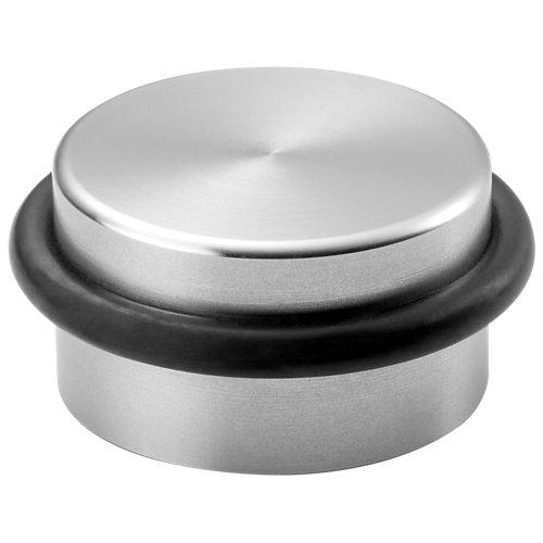 4 tope de puerta para fijar en el suelo plata 3.6x1.8x3.6 cm