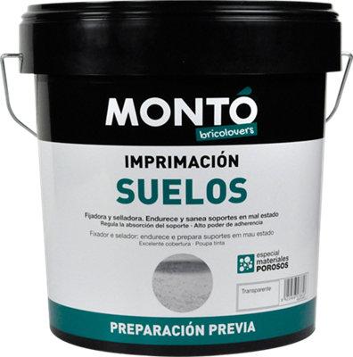Imprimación para suelos color transparente MONTÓ 4L