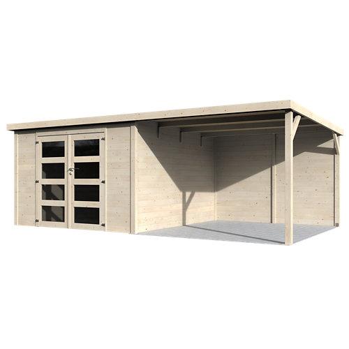 Caseta de madera delices de 585x202x326 cm y 19.07 m2