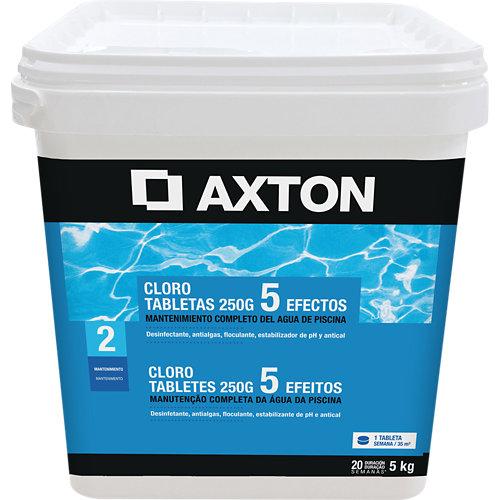 Cloro 5 efectos axton en pastillas 5 kg