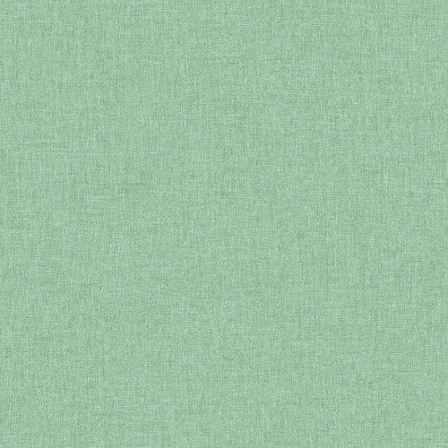 Papel pintado verde efecto lino 5,3 m2
