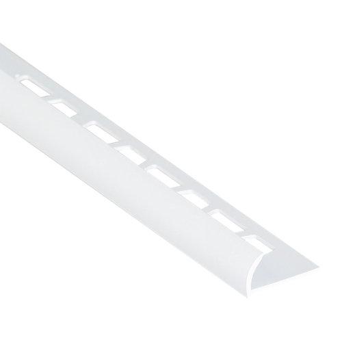 Perfil curvo basic pvc 10mm l2.5m blanco